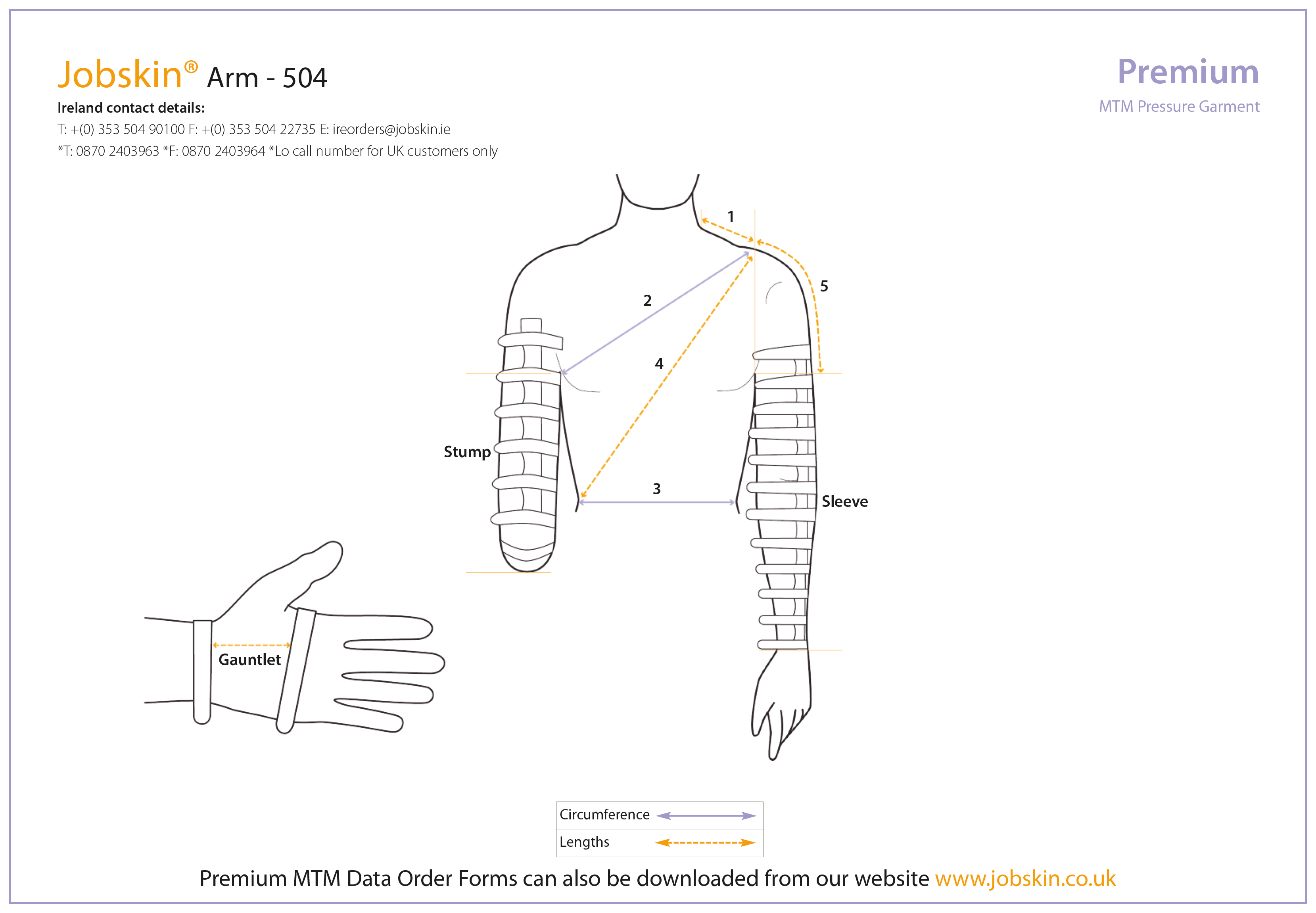 Arm Measure Form