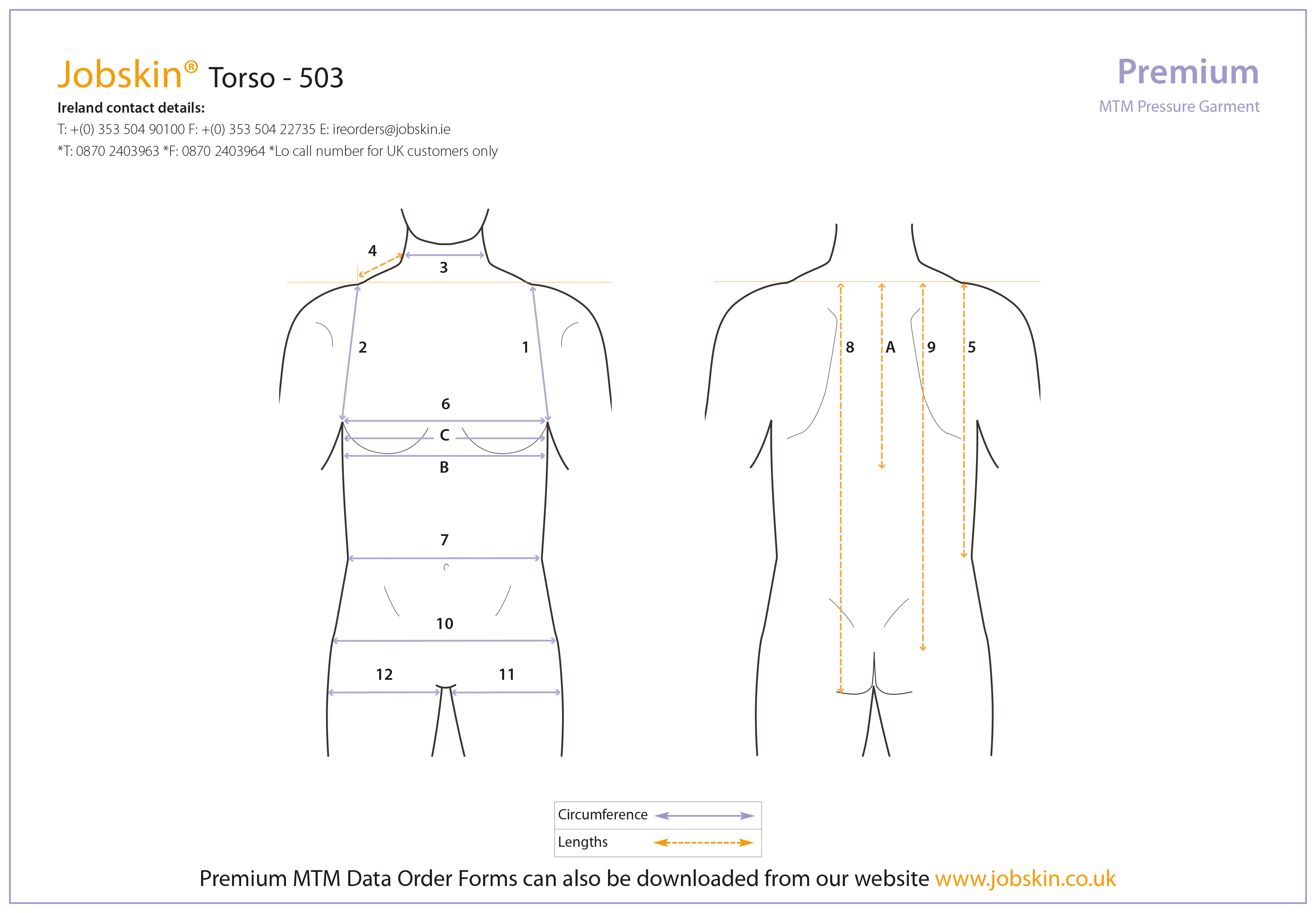 Torso measure form