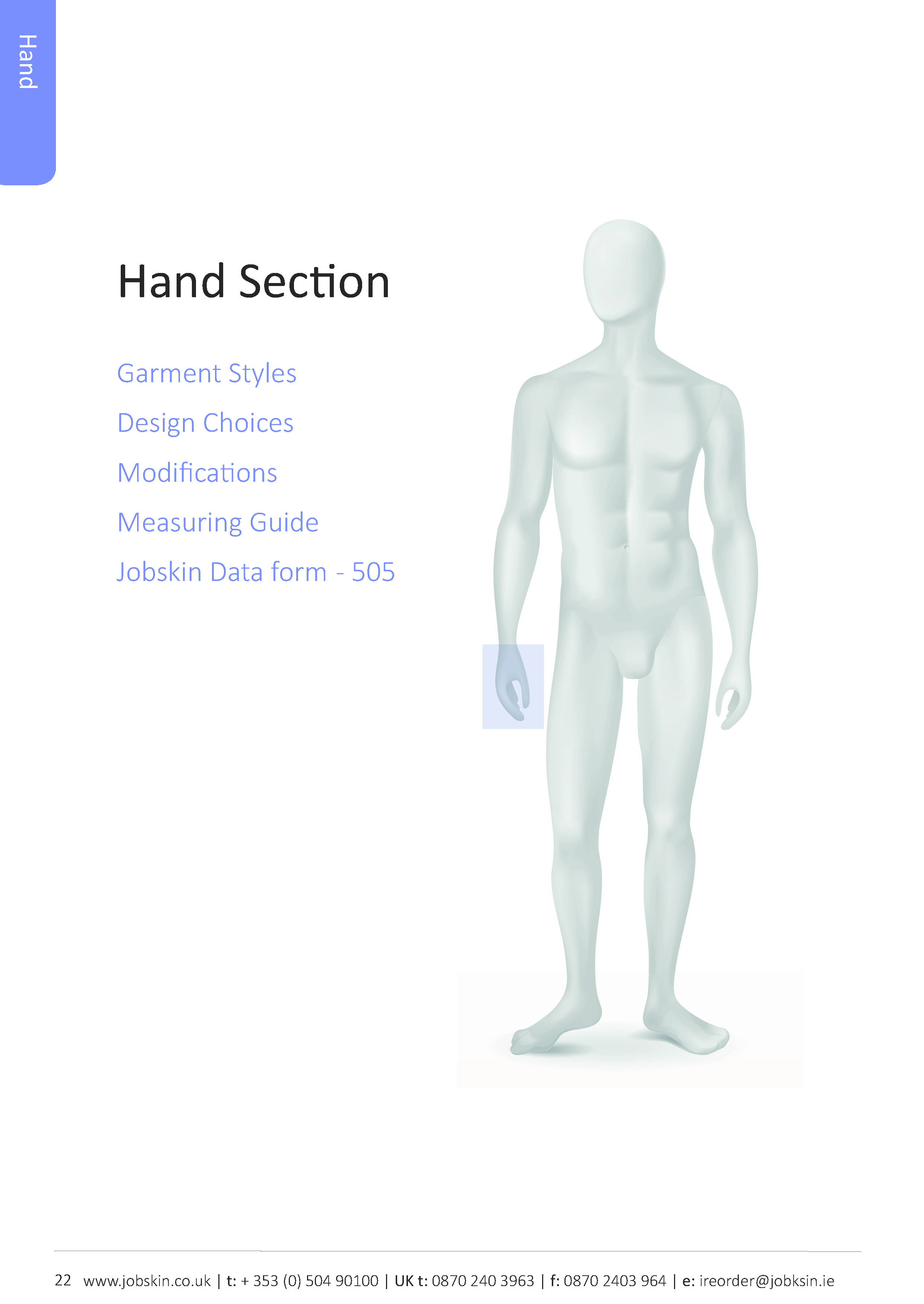 Hand how to measure section