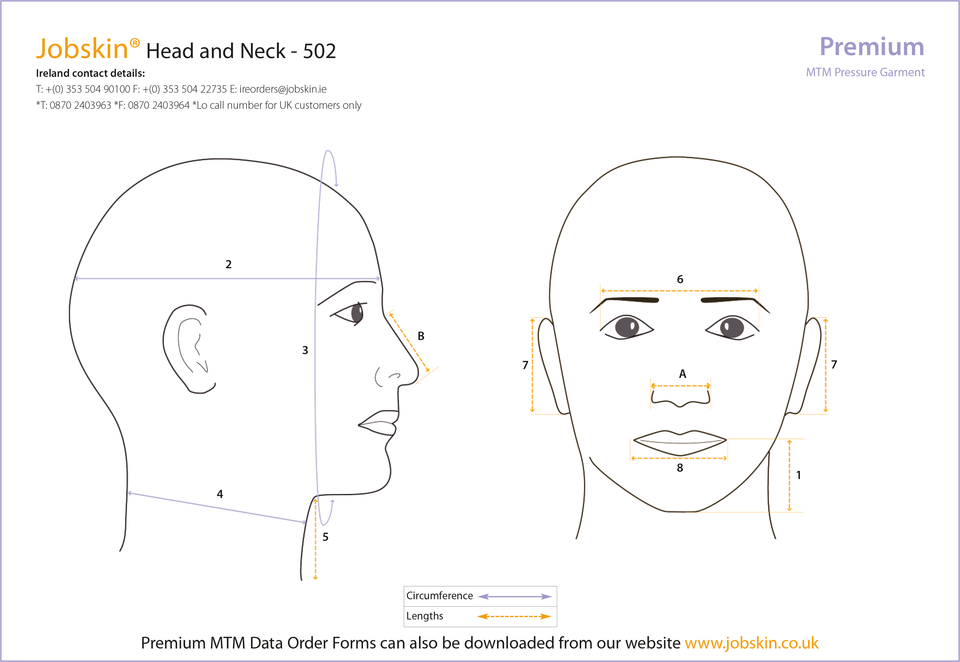 Head and neck measure form